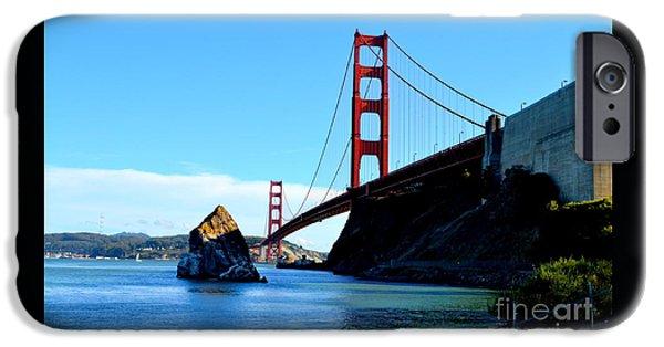 Bay Bridge iPhone Cases - Golden Gate Bridge iPhone Case by Regina Strehl