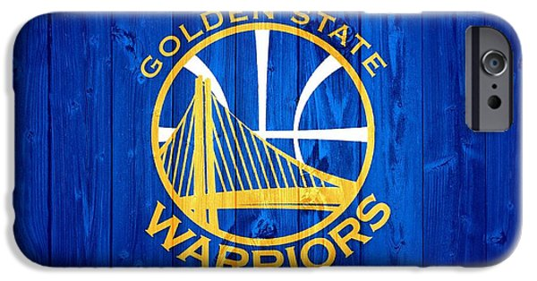 Oracle iPhone Cases - Golden State Warriors Barn Door iPhone Case by Dan Sproul