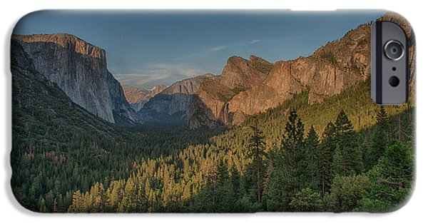 Sunset Scenes. iPhone Cases - Golden Yosemite iPhone Case by Bill Roberts