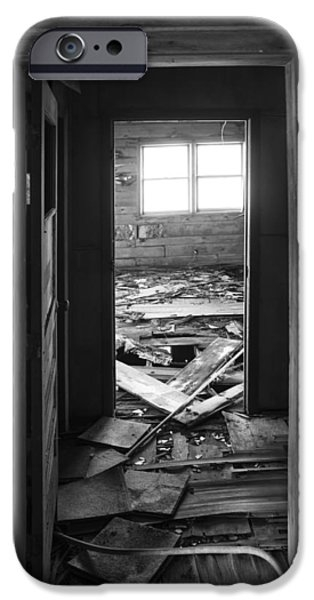 Historic Site iPhone Cases - Grain Elevator Interior Rubble iPhone Case by Donald  Erickson