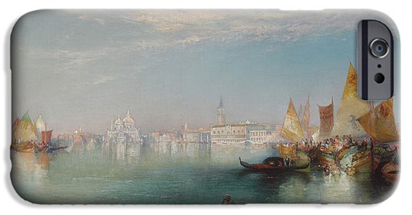 Water Vessels Paintings iPhone Cases - Grand Canal  Venice iPhone Case by Thomas Moran