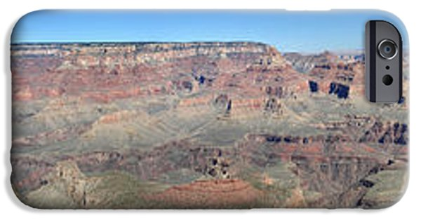 Grand Canyon iPhone Cases - Grand Canyon National Park panorama iPhone Case by Pierre Leclerc Photography