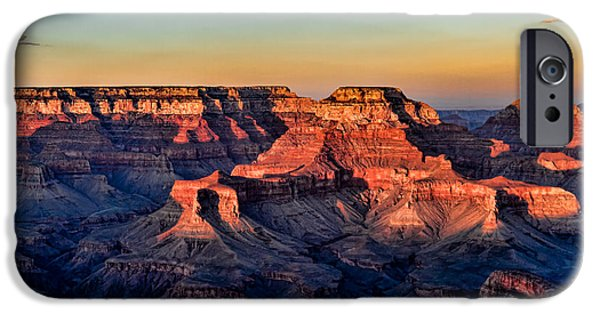 Red Rock iPhone Cases - Grand Canyon Sunset iPhone Case by Buddy Woods