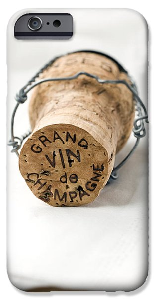 Wine Art iPhone Cases - Grand vin de Champagne iPhone Case by Frank Tschakert