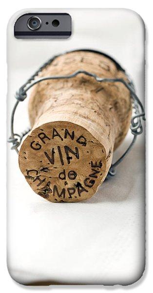 Wine Deco Art iPhone Cases - Grand vin de Champagne iPhone Case by Frank Tschakert
