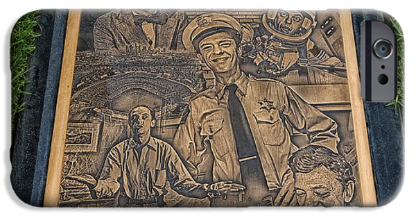 Andy Griffith Show iPhone Cases - Gravesite Of Don Knotts - Westwood Cemetery iPhone Case by Mountain Dreams
