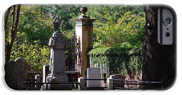 Grave Yards iPhone Cases - Graveyard in Charleston iPhone Case by Susanne Van Hulst