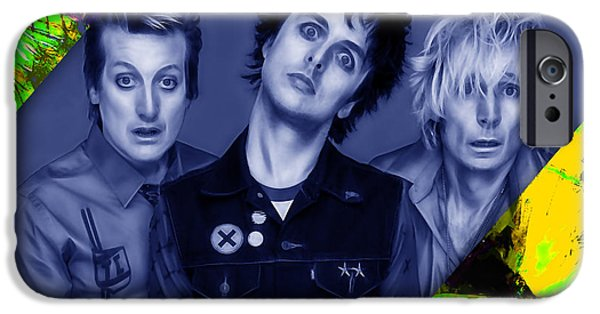 Rock iPhone Cases - Green Day Collection iPhone Case by Marvin Blaine
