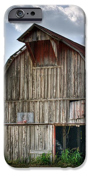 Grey Barn iPhone Case by Douglas Barnett