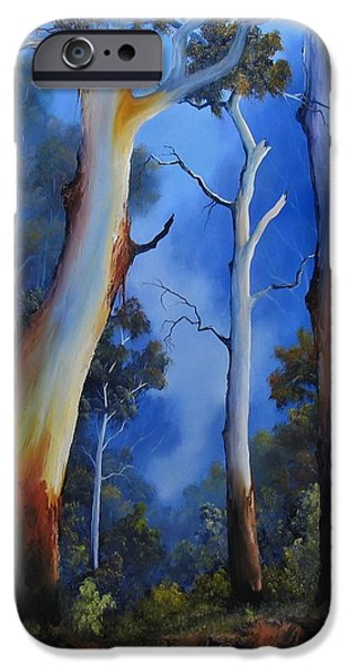 Landscapes Reliefs iPhone Cases - Gumtree View iPhone Case by John Cocoris