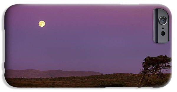 Bodega Bay iPhone Cases - Harvest Moon over Bodega Bay iPhone Case by Diane Diederich