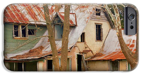 Haunted House iPhone Cases - Haunted House iPhone Case by Marty Koch