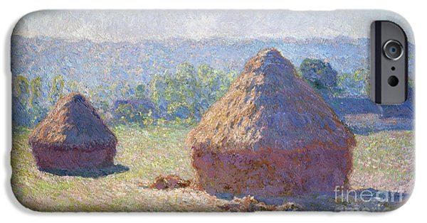 Recently Sold -  - Summer iPhone Cases - Haystacks - end of Summer iPhone Case by Claude Monet