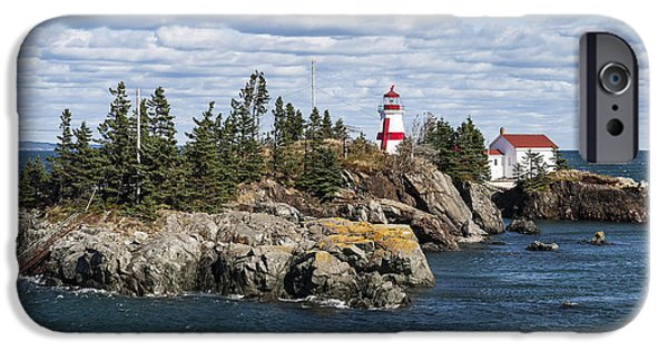 Head Harbour Lighthouse iPhone Cases - Head Harbour Lighthouse iPhone Case by John Greim