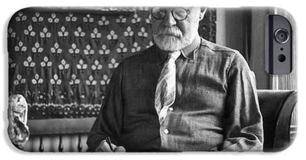 Painter Photographs iPhone Cases - Henri Matisse (1869-1954) iPhone Case by Granger
