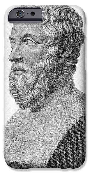 Narrative iPhone Cases - Herodotus, Ancient Greek Historian iPhone Case by Photo Researchers