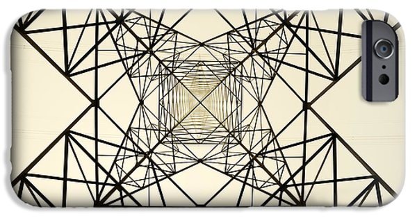 Electrical iPhone Cases - High voltage electric tower iPhone Case by Mikel Martinez de Osaba