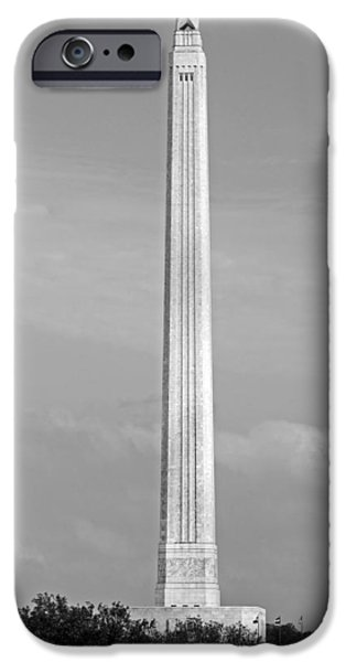 Battlefield Site iPhone Cases - Historic San Jacinto Monument iPhone Case by Mountain Dreams