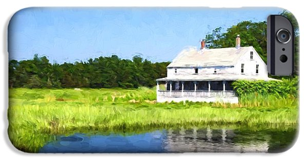 Charles River iPhone Cases - Homestead iPhone Case by Charles Dobbs