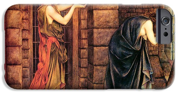 Prison Paintings iPhone Cases - Hope In The Prison Of Despair iPhone Case by Evelyn de Morgan