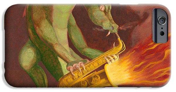 Leonard Filgate iPhone Cases - Hot Sax iPhone Case by Leonard Filgate
