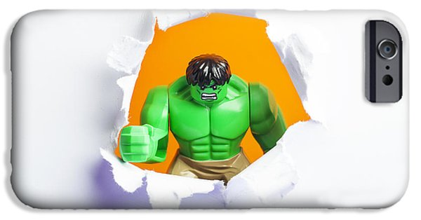 Torn iPhone Cases - Hulk Smash iPhone Case by Samuel Whitton
