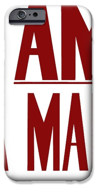 Black History iPhone Cases - I Am A Man iPhone Case by War Is Hell Store