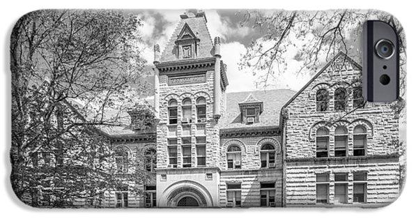 Indiana Images iPhone Cases - Indiana University Kirkwood Hall  iPhone Case by University Icons