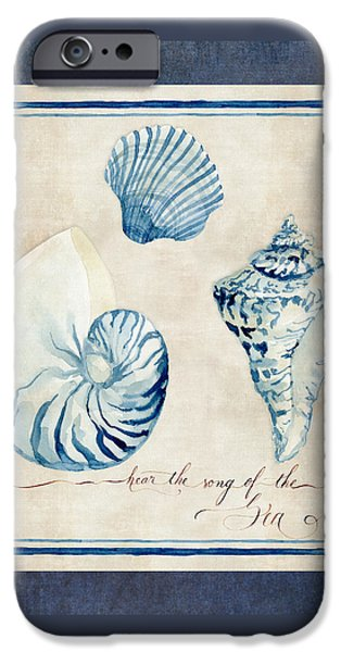 Hand-watercolored iPhone Cases - Indigo Ocean - Song of the Sea iPhone Case by Audrey Jeanne Roberts