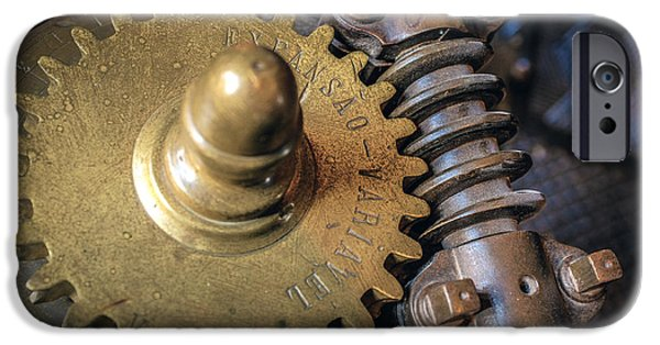 Cogwheel iPhone Cases - Industrial Gear iPhone Case by Carlos Caetano