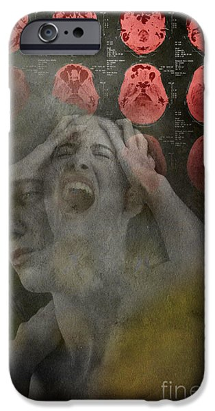 Sensitivity iPhone Cases - Intense Pain iPhone Case by George Mattei