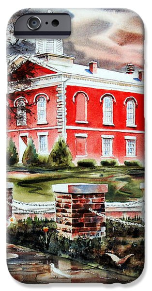 Iron County Courthouse II iPhone Case by Kip DeVore