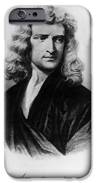 Calculus iPhone Cases - Isaac Newton, English Polymath iPhone Case by Omikron
