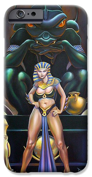 Horus iPhone Cases - Isis and Osiris iPhone Case by Patrick Anthony Pierson