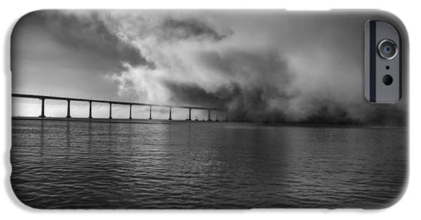 Bay Bridge iPhone Cases - Its Coming  iPhone Case by Joseph S Giacalone
