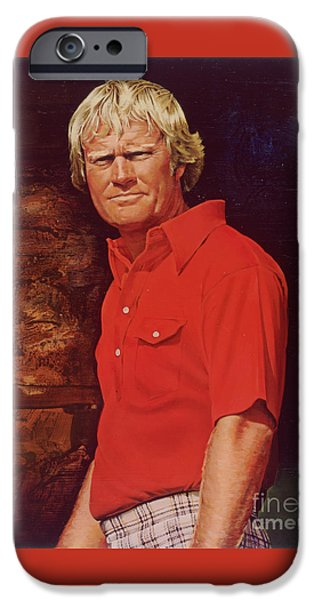 Us Open Mixed Media iPhone Cases - The Golden Bear iPhone Case by David Kilmer