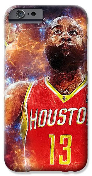 Malone iPhone Cases - James Harden iPhone Case by Taylan Soyturk