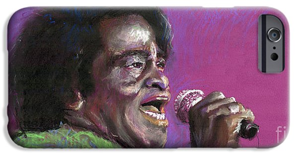 Pastel Paintings iPhone Cases - Jazz. James Brown. iPhone Case by Yuriy  Shevchuk