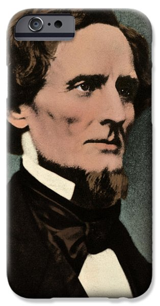 Secession iPhone Cases - Jefferson Davis, President iPhone Case by Photo Researchers