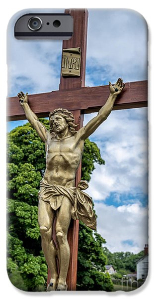 Cemetary Digital Art iPhone Cases - Jesus of Nazareth iPhone Case by Adrian Evans