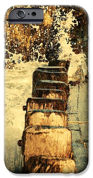 Bay Head Beach iPhone Cases - Jetty vs Sea - Jersey Shore iPhone Case by Angie Tirado