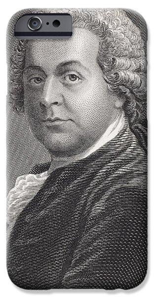 President iPhone Cases - John Adams 1735 - 1826. First Vice iPhone Case by Vintage Design Pics