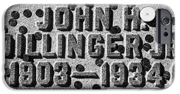 Headstones iPhone Cases - John Dillinger Headstone iPhone Case by Pixabay