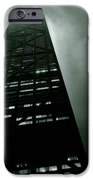 Windy City iPhone Cases - John Hancock Building - Chicago Illinois iPhone Case by Michelle Calkins