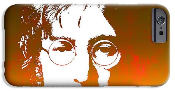 Beatles iPhone Cases - John Lennon The Legend iPhone Case by Chris Smith