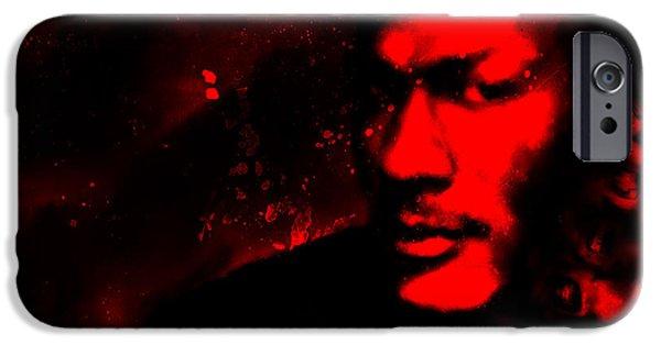 Patrick Ewing Paintings iPhone Cases - Jordan Six Rings iPhone Case by Brian Reaves