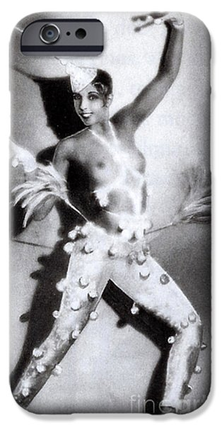 Nudes Photographs iPhone Cases - Josephine Baker iPhone Case by Stanislaus Walery