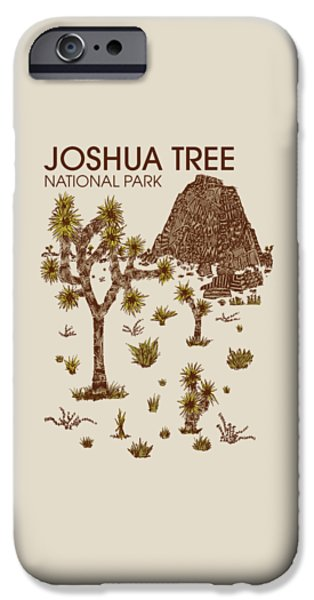 National Park iPhone Cases - Joshua Tree National Park iPhone Case by Hinterlund