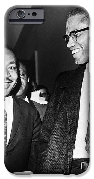 Malcolm X iPhone Cases - King And Malcolm X, 1964 iPhone Case by Granger