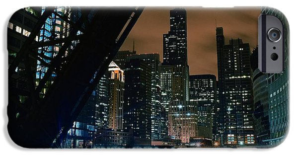 Sears Tower iPhone Cases - Kinzie Street Bridge iPhone Case by Frozen in Time Fine Art Photography